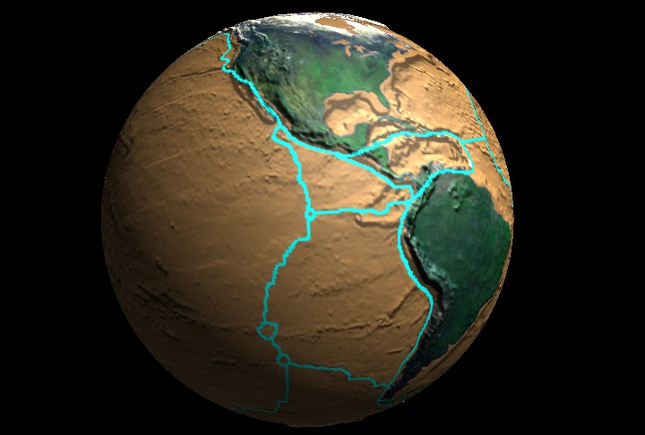 Foto de portada modelo de límites de placa (Imagen NASA)