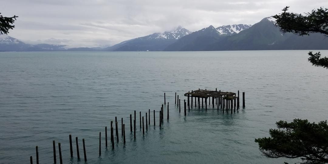 Paisaje de un lago en Alaska