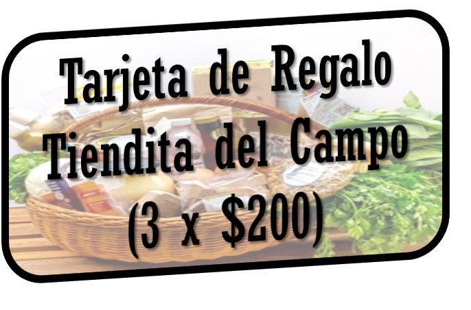 Tarjetas de Regalo Tiendita del Campo